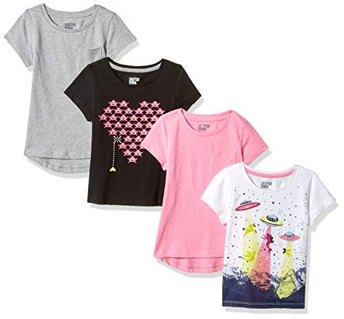 Brand Spotted Zebra Girls Active Short-Sleeve T-Shirts