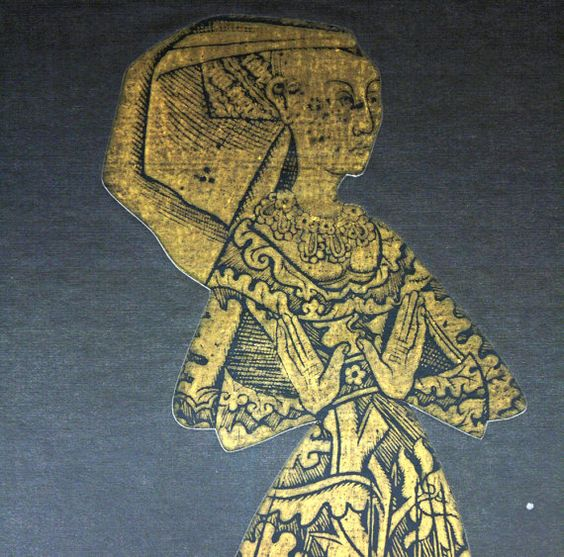 Large Vintage Brass Rubbing of Margaret Bernard Peyton: