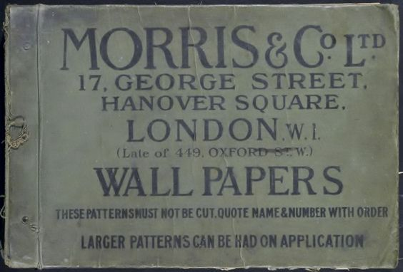 ¤ Morris and Co. London. Wall papers sample book
