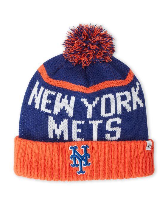 '47 Brand New York Mets Pom-Pom Linesman Knit Hat