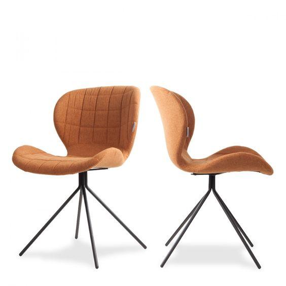 lot de 2 chaises design omg zuiver - Chaise Eleven Patchwork Colors