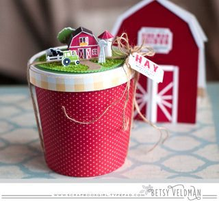 Hay There Treat Container by Betsy Veldman for Papertrey Ink (December 2015)