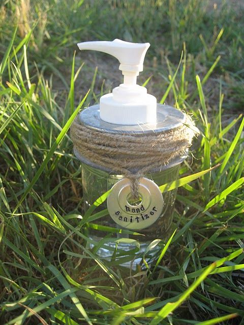 mason jar soap/lotion dispenser