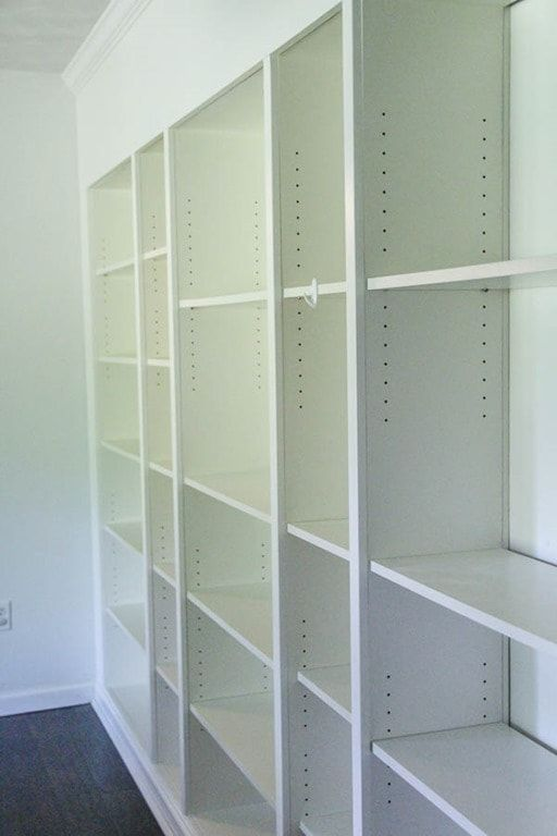 How To Build Easy Built Ins From Ikea Billy Bookcases Lovely Etc Ikea Built In Ikea Built In Bookcase