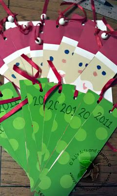 Santa Bookmarks made from Cereal Boxes (great for class gifts)