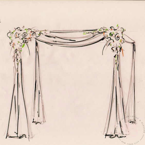 Drawing Wedding Altar: Chuppah And Sketches On Pinterest