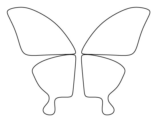 Butterfly wings pattern. Use the printable outline for crafts ...