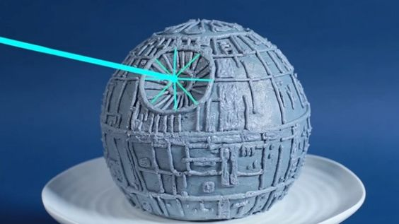May the cake be with you: Star Wars Death Star cake