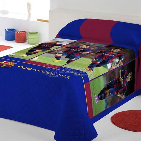 Colcha Bouti Barcelona Jugadores - Bazartextil.com