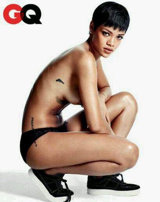 Rihanna with Stella McCartney lingerie