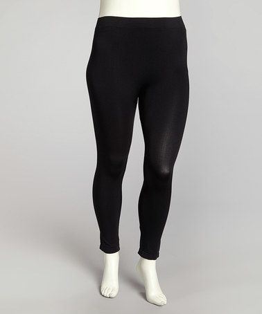 I need options! Take a look at this Black Leggings - Plus by Tua Plus on #zulily today!