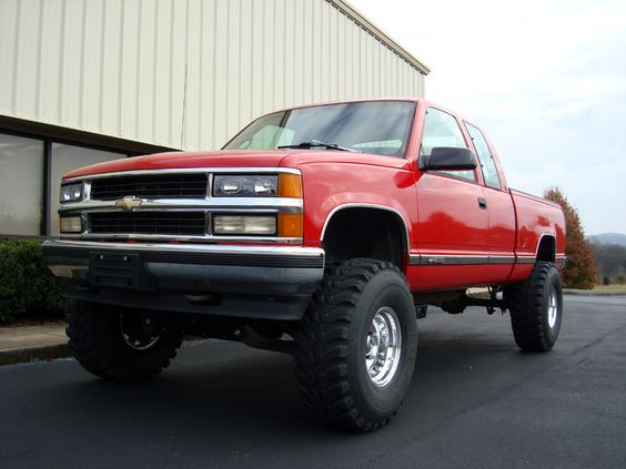 Jacked Up Chevy Spark >> Clean 95-98 Chevy Silverado K1500 4X4 | Chevy trucks | Pinterest | Beautiful, Chevy and Kid