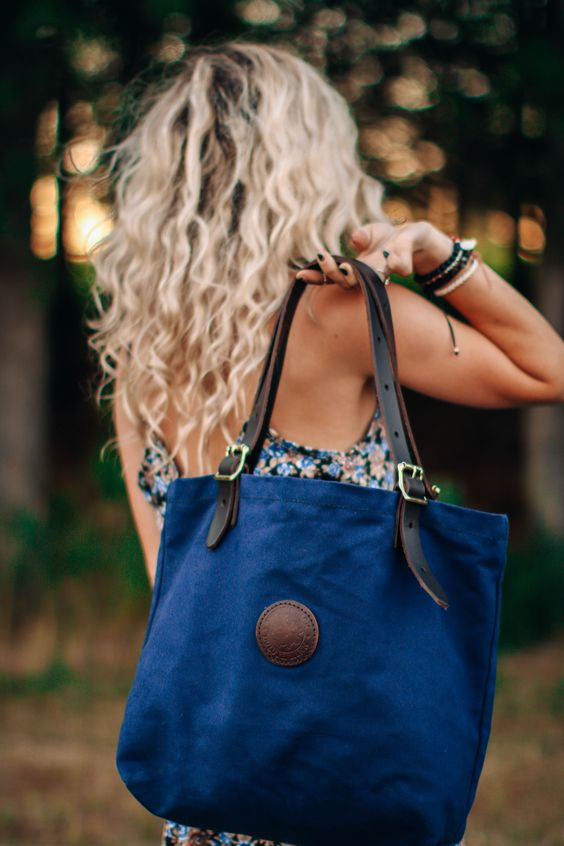 www.duluthpack.com | What do you adventure for? | Duluth Pack Medium Market Tote in Navy Canvas
