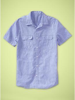 Linen striped shirt (original fit) | Gap