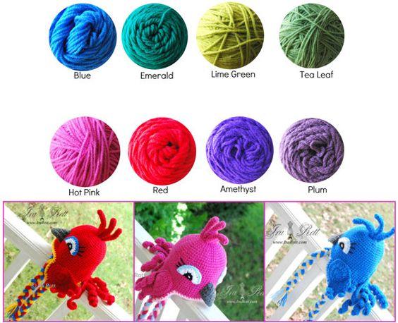 Handmade Crochet Blue Jay or Blue Parrot Bird Hat hat for babies, kids, teens and adults www.irarott.com