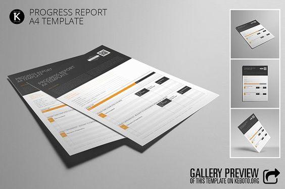 Progress Report A4 Template - progress reporting template