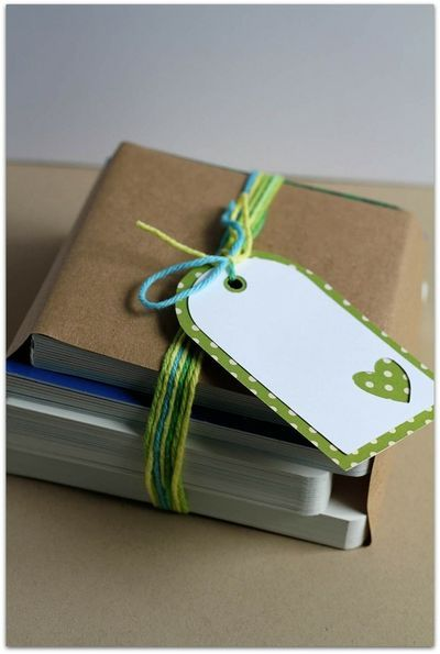 Double layer gift tag. (Use flower cut out?)