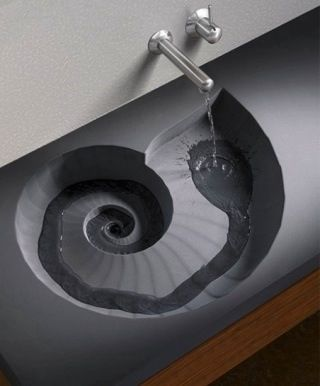 Cool sink for a beach house! great idea for a cloakroom sink