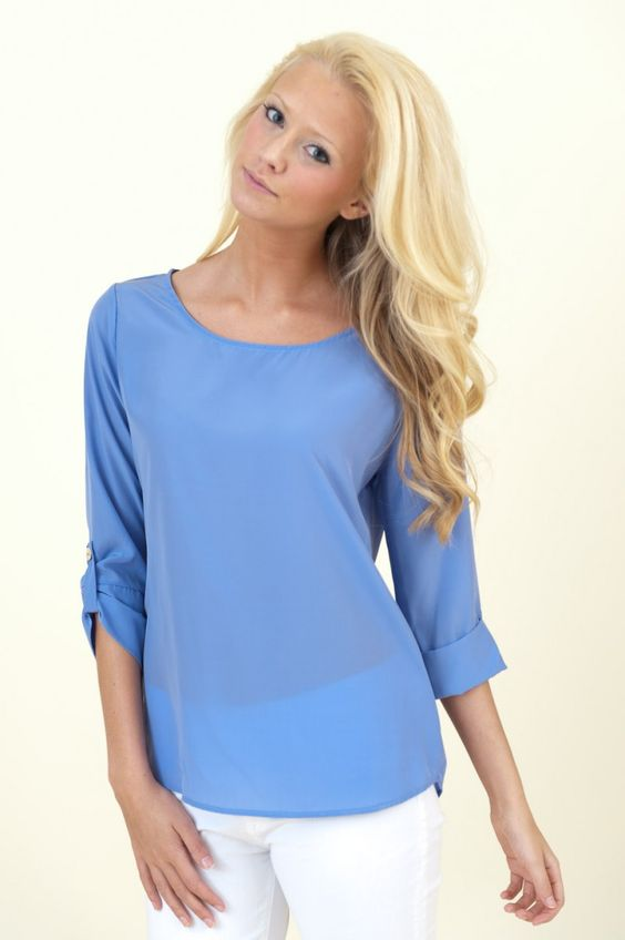 Not So Shy Violet Blouse- cute blouse that you can add scarf too or statement necklace or wear alone.... hot back to white