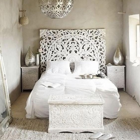 Balinese King Bed Headboard Wood Carving #IdeasForInteriorPlanning