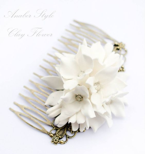 Clay flower Hair accessories