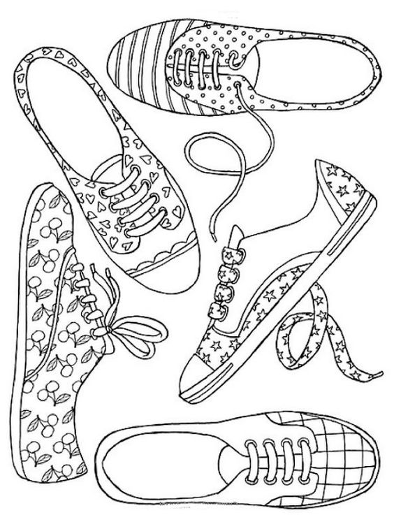 tap shoes pencil coloring pages