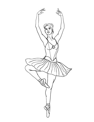Printable Ballerina Coloring Page Free PDF Download At