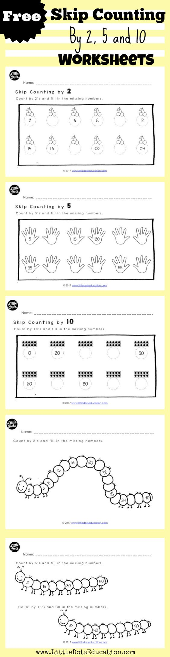 Skip Counting Patterns Worksheets addition flashcards vertical ...
