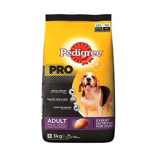 Buy Pedigree Professional Adult Small Breed Premium Dog Food 3 Kg