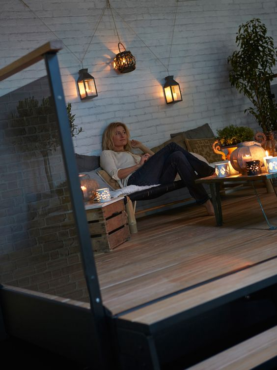 Indretning af terrasse aftenstunder_Dolle terrasse2.jpg Terrasse hygge ...