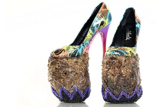 crazy shoes heels   Crazy Shoes!!!:Elephant 'Dung' Heels by Insa x Chris Ofili , March ...