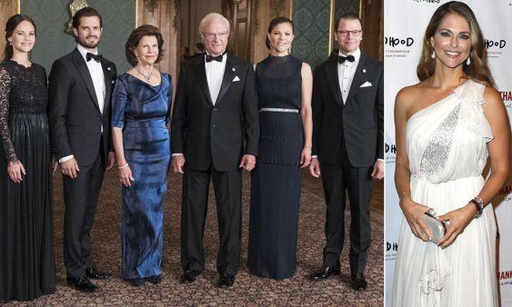 ¿Dónde estaba la princesa Magdalena mientras la Familia Real de Suecia asistía a una cena de gala