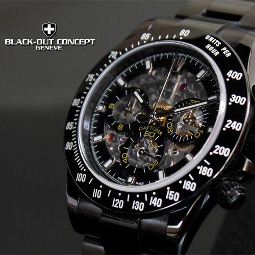 Rolex Daytona DLC noire Skeleton
