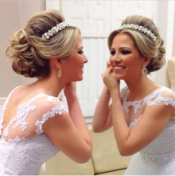 penteados presos para noivas de 2016 que tem o sorriso bonito