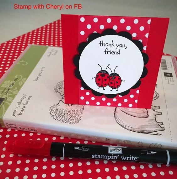 Stampin up - Sheryl4stamps - love you lots