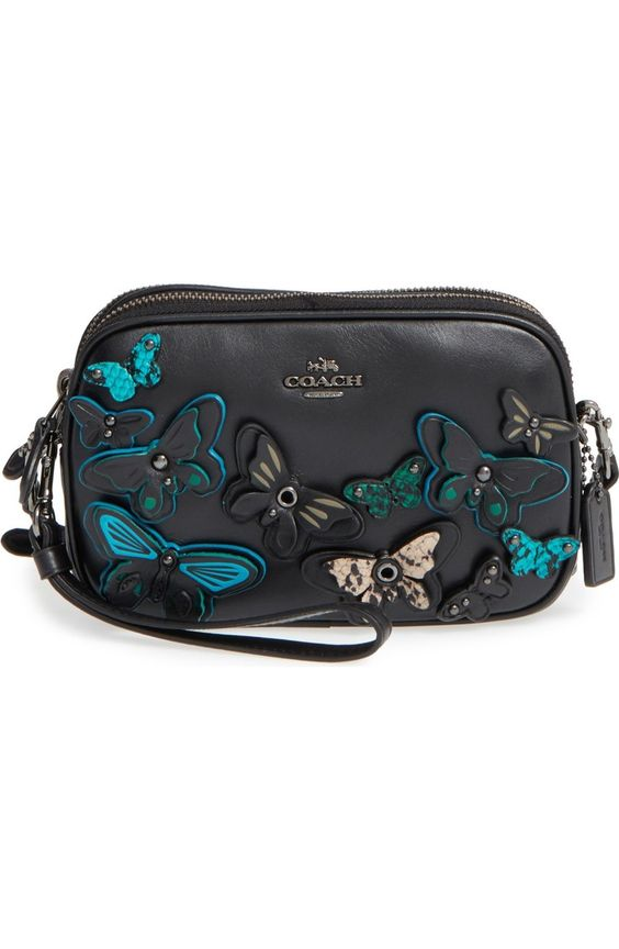 Coach butterflies crossbody bag in Black