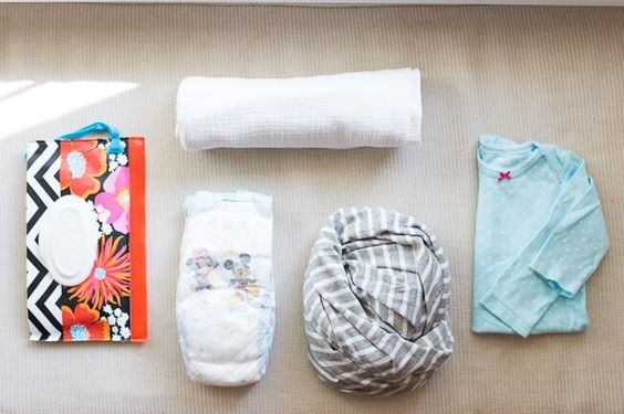 Minimalist diaper bag checklist + covered goods nursing cover