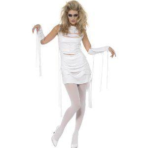 Costume donna Mummia, tg. M Yummy Mummy. Travestimento per Halloween, carnevale e festa a tema zombie. Disponibile da C&C Creations Store