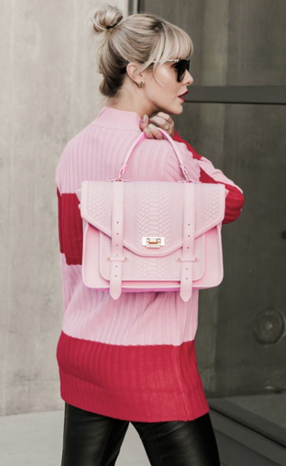 Love this gorgeous pink satchel