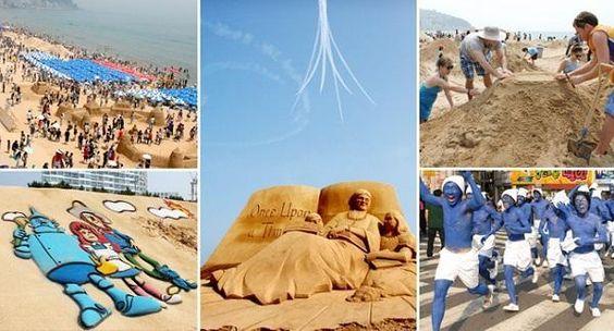 Lễ hội cát thu hút nhiều khách du lịch cả ở trong và ngoài nước tham gia