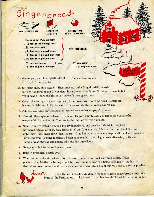 Gingerbread Recipe from a childs cookbook.