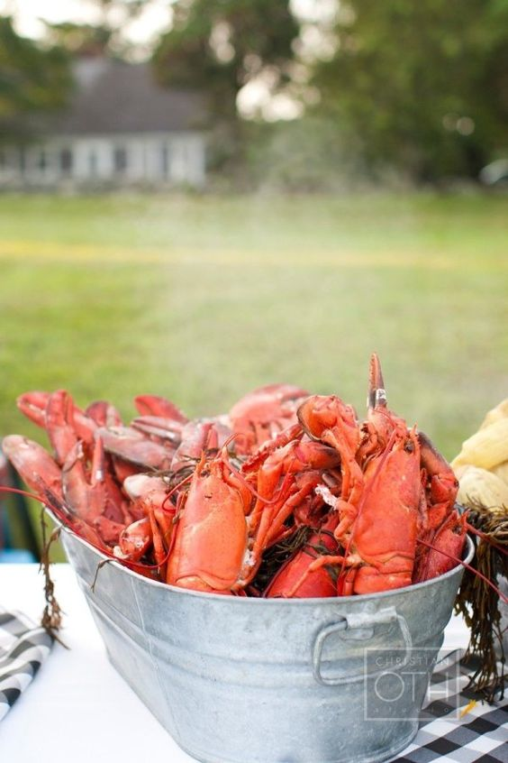 New England Lobster Bakes with my family & friends.  Photography by hristianothstudio.com: