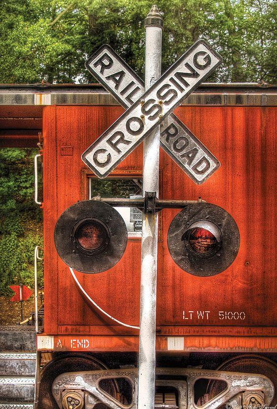 Train - Yard - Railroad Crossing Photograph  - Train - Yard - Railroad Crossing Fine Art Print