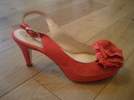 coral kitten heel shoes - Bing Images | Shoes/Boots | Pinterest