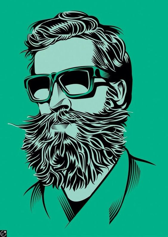 cool beard and mustach...