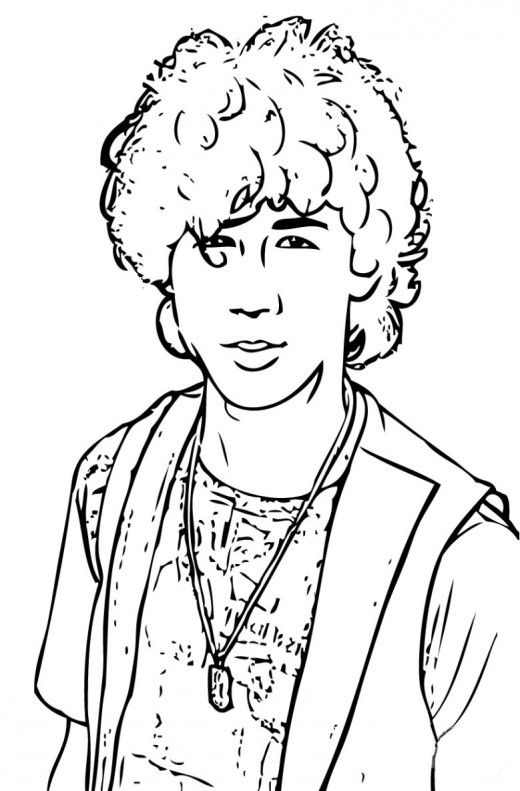Jonas brothers smiling coloring pages - Hellokids.com | 791x520
