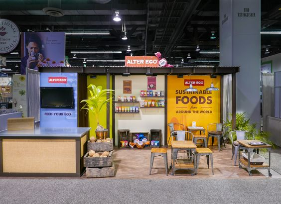 Tradeshow booth for natural food client at expo west 2015 natural products booths pinterest - Food booth ideas ...