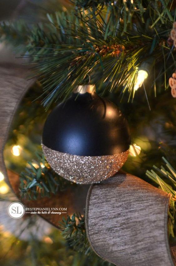 Handmade Glitter Dipped DIY Ornaments #michaelsmakers