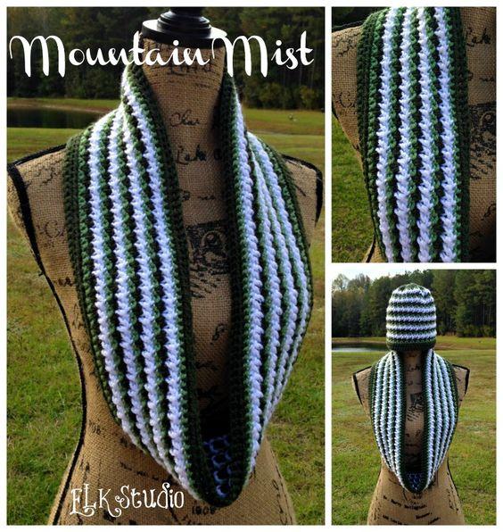 Mountain Mist - A Crochet Scarf by ELK Studio | Patrones de la ...