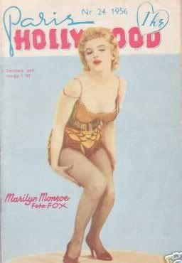 Paris Hollywood - No. 24, 1956, Danish magazine. Cover photo of Marilyn Monroe by Milton H. Greene, 1956.